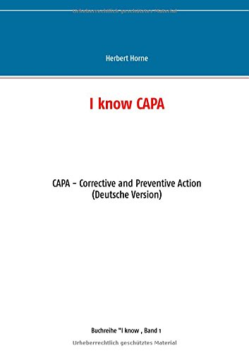 I know CAPA: CAPA - Corrective and Preventive Action