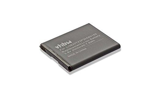 Batteria vhbw per ZTE Blade G LTE Majesty N9510 N9511 Solar Source Warp 4G Z759G Z796C come Li3820T43P3h585155. 2000mAh (3.8V)