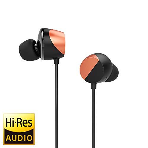 Tunai Creative Drum Hi-Res Kopfhörer - In-Ohr Kopfhörer mit extra großen 13 mm Treibern für verbesserten Raumklang und Basswiedergabe (Neon-Orange)