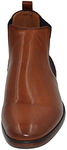 Chelsea boots bottines homme à doublure cuir camel pu