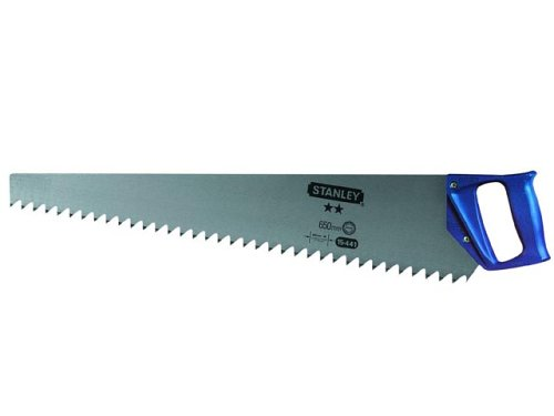 Preisvergleich Produktbild Stanley Porenbetonsäge HP (650 mm Länge, 1.2 Zähne/Inch, Hardpoint-Verzahnung, Handgriff mit 45°/90° Anschlag) 1-15-441