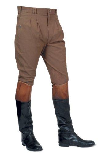 Mark Todd Auckland - Pantaloni da equitazione da uomo, con pieghe anteriori Marrone - marrone