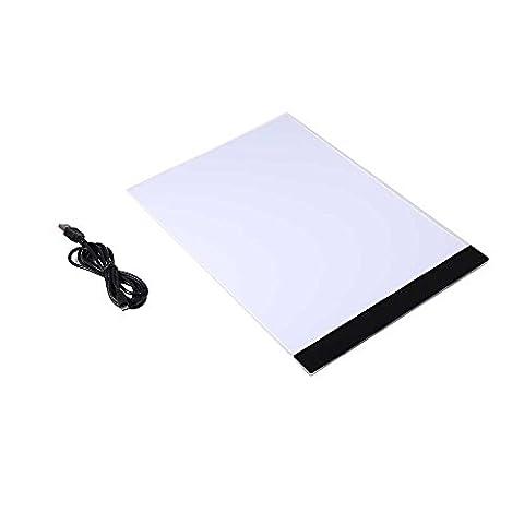 A4 LED Table À Dessin Art Tablette Lumineux Graphique Pad Plaque De Dessin Avec USB Câble Pour Enfants Artistes