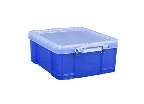 Really Useful Box 18B Aufbewahrungsbox mit Deckel, Inh.18 Liter, solid blau