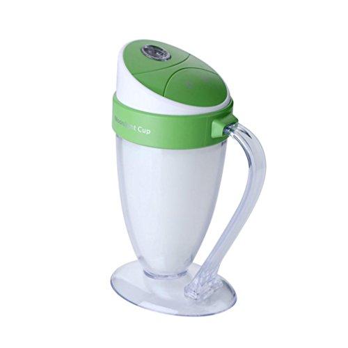 Lacaca Mini 110ML Moonlight Cup Umidificatore Con LED Colorato Atmosfera Luce Di Notte Atomizzazione Umidificatore Per Ufficio Casa Camera Da Letto Soggiorno (Verde) - Super One Gallon
