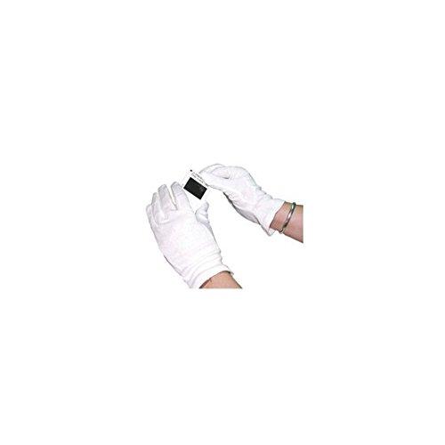 HPC Aussparung zum Zurücklehnen GI/ncme Strick Baumwolle Handschuhe, groß, weiß (10Stück)