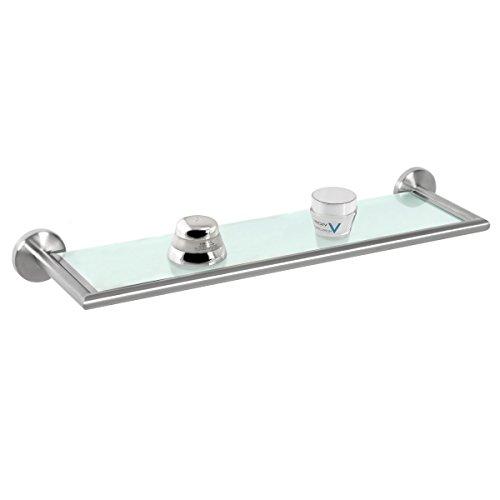 Bremermann® serie bagno piazza - mensola in vetro e acciaio inox satinato