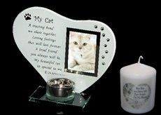 Teelichthalter mit Fotorahmen und Gedicht, My Cat (Meine Katze),