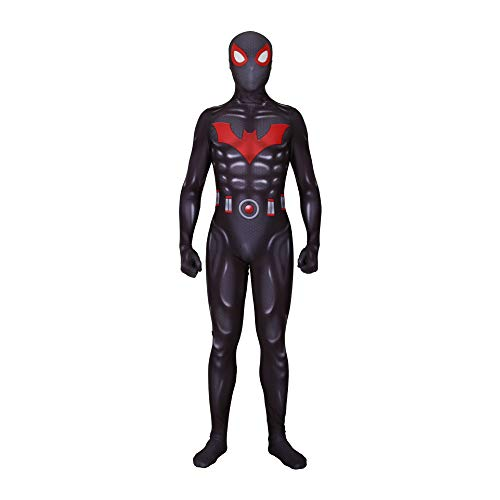 CVFDGETS 3D Digitaldruck Comics Zukunft Fledermaus Spiderman Cosplay Kostüm Halloween Kleidung Requisiten Superheld Lycra Spandex Unisex,Batspiderman-S (Comic Kostüm Kleidung)