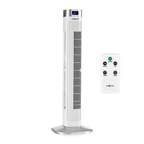 oneConcept Turmventilator mit Fernbedienung / 50 Watt