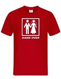 T-Shirt Game Over, diverse Farben, Junggesellenabschied