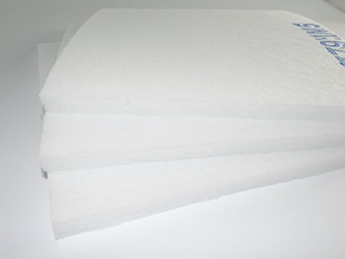 Filtermatte Filtermedium Staubfilter Feinfilter F5 (neu M5) ca. 1m x 1m - Dicke ca. 15-20mm ca. 360g/m² Ersatzfilter Luftfilter Filter Feinfilter Pollenfilter zum selber Zuschneiden
