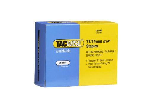 Tacwise 0371 Boîte de 10000 Agrafes galvanisées 14 mm Type 71