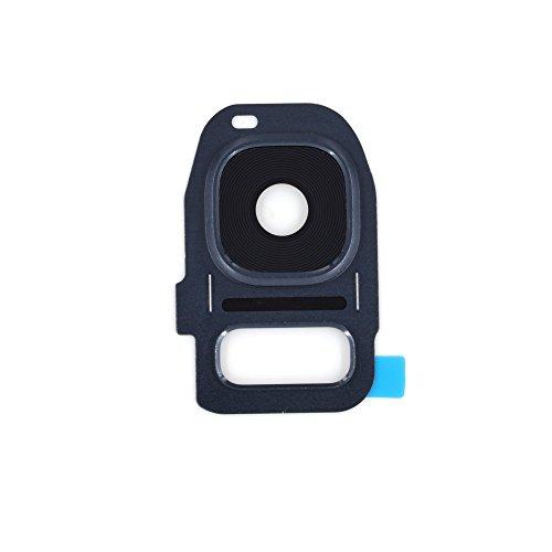 Hinten Kamera Objektiv OEM Glas mit Rahmen für Reparatur Samsung, Galaxy S7(Black)
