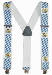 Hosenträger Y Form: Bayern mit König Ludwig