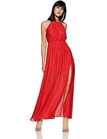 Forever 21 Women's A-Line Mini Dress (255491_RED_L)