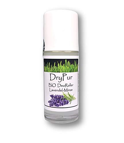 DryPur - BIO Deo Rollon *Lavendel-Minze* - ohne Aluminium, Alkohol oder künstliche Zusätze - Naturkosmetik Deodorant im Deo Roller - Vegan, ohne Parabene und Silikone - Deodorant Lavendel