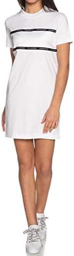 Calvin Klein Women's TONAL LOGO TAPE T-SHIRT DRESS D
