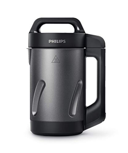 Philips HR2204/70 Viva Collection Soup Maker, Black and Stainless Steel