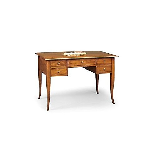 Rustikale Italienische (Chefsessel Schreibtisch, Holz, Schreibtisch, klassisch, 107 x 56 cm, h 81 aus ITALY)
