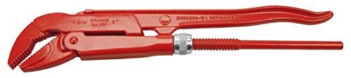VBW Eckrohrzange, 1 Zoll, 45 Grad, rot lackiert, 87951010