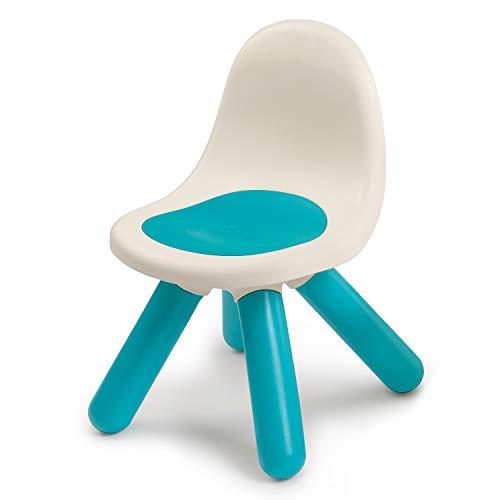 Smoby - Kid Stuhl Blau - Design Kinderstuhl für Kinder ab 18 Monaten, für Innen und Außen, Kunststoff, ideal für Garten, Terrasse, Kinderzimmer