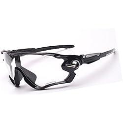 Atdoshop Fahrradbrille Sport Sonnenbrille für Herren und Damen Polarisierte, UV400 Schutz Unzerbrechliche Sportbrille für Reiten Fahren Angeln Laufen Golf und Andere Outdoor Sport (Klar)