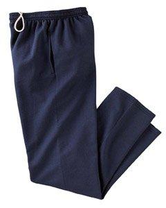 Champion P800 Adult Double Dry Eco Open-Bottom Fleece Pants with Pockets - Navy, 2XL (Pant Fleece Open Bottom)