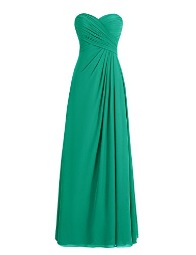 Dresstells, robe de soirée mousseline sans bretelles longueur ras du sol col en cœur Rose