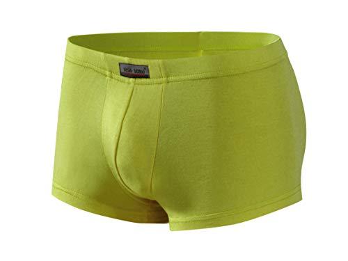 Sesto Senso® Boxershorts Herren Bambus 1er 6er 12er Pack Slips aus Bambusfaser Men Retroshorts Unterhose mit Futter Mini Boxers (M, Pistazie) Bambus Slip