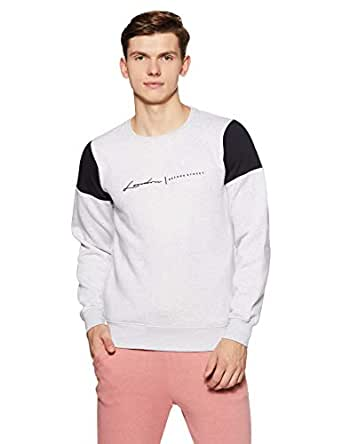 Qube By Fort Collins Men's Sweatshirt (929247 SMU_Ecru_XL)