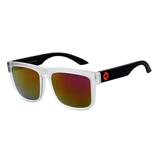 GJYANJING Sonnenbrille Sport Sonnenbrille MännerFrauen Sonnenbrille Reflektierende Beschichtung Platz Spion Für Männer Rechteck Eyewear Sonnenbrille