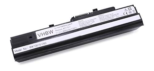 vhbw Li-ION Batterie 6600mAh (11.1V) pour Ordinateur Portable, Notebook Mivvy M310, MyBook M11 Freedom, Proline U100 comme BTY-S11.