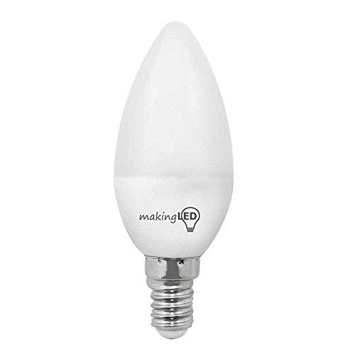 makingled Ampoule LED avec lumière neutre E14, 4 W, Blanc, 3.7 x 9.8 cm