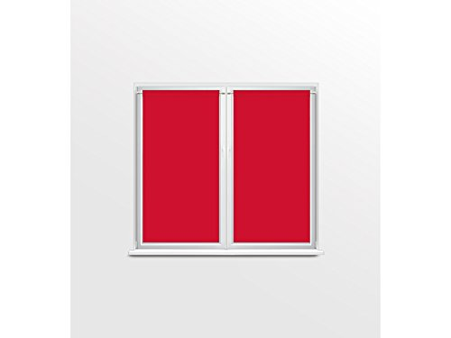 Coppia di tendine a vetro 60 x 120 cm panama rossa