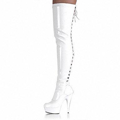 pwne Scarpe Da Donna In Pelle Di Brevetto Tacchi / Piattaforma / Moda Tacchi Stivali Stivali / Parte &Amp; Sera Stiletto Heel US6.5-7 / EU37 / UK4.5-5 / CN37