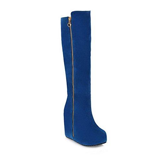 BalaMasa ,  Damen Durchgängies Plateau Sandalen mit Keilabsatz , blau - blau - Größe: 35