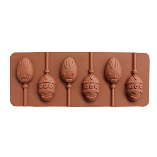 ny Floral Osterei Form 3D Silikon Lutscher Form Süßigkeiten Schokolade Gummibärchen Fondantform Backformen Backen Werkzeuge Tablett ()