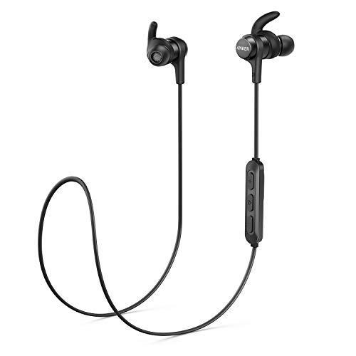 [Upgraded] Anker SoundBuds Flow Bluetooth Kopfhörer, In-Ear Kopfhörer mit Bluetooth 5.0, IPX7 Wasserschutzklasse, 12 Stunden Wiedergabezeit, Magnetischer Konnektor-Clip