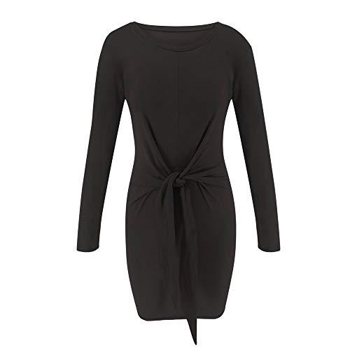 Hangup-vestito ►▷ abito,gonne,vestiti,donna abito al ginocchio con scollo abito classico vestire vestiti, vestito da donna a maniche lunghe con scollo a giro manica da donna