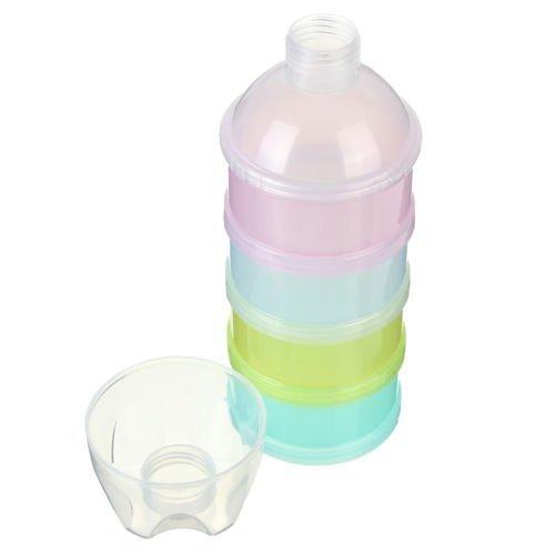 Fengh 4capas leche en polvo dispensador de caso caja bebé alimentación infantil de viaje contenedor