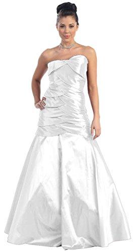 NL752 Brautkleid Hochzeitskleid Festkleid Abendkleid lang Weiß 40