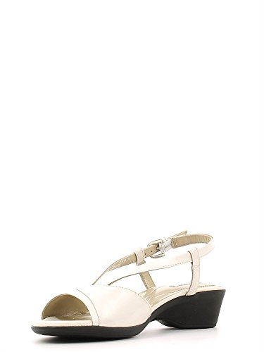 Geox D New Coral A, Sandales Femme Blanc