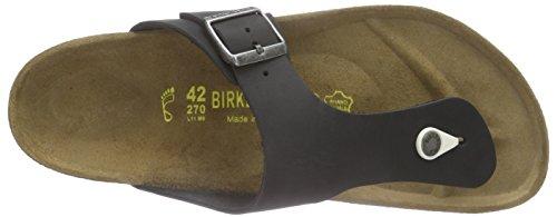 Birkenstock Ramses Leder Unisex-Erwachsene Zehentrenner Schwarz (Schwarz)