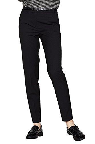 ESPRIT Collection Damen Hose 997EO1B802, Schwarz (Black 001), 40 (Wolle Stretch Blazer)