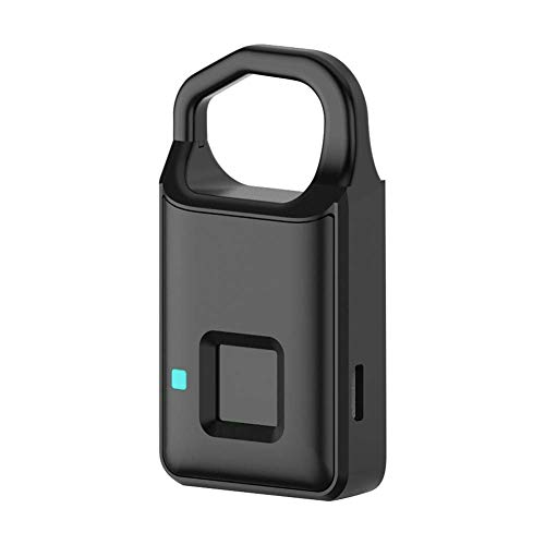 C-Xka Kleines Mini Free-Passwort Fingerprint Lock Elektronisches Smart-Vorhängeschloss Non-Passwort Lock Household Locker Diebstahlsicherer Fingerprint Lock