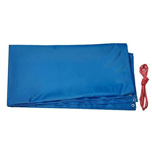 GGYMEI Abdeckplane Holz Niedrigtemperaturbeständiges, Verdickendes Sonnenschutzdach Aus Weichem Und Leicht Zu Faltendem PVC-Material, 9 Größen (Color : Blue, Size : 4.85×3.85m)