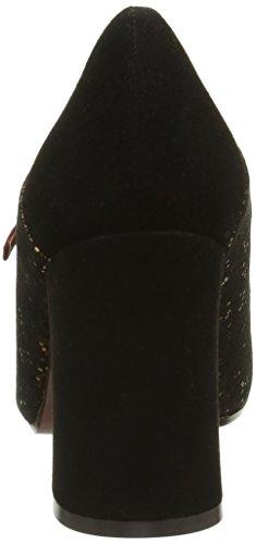 Chie Mihara Tipito, Chaussures à Plateforme et à Talons avec Lanière en T Femme Noir (Pixy Bronce/Ante Negro)