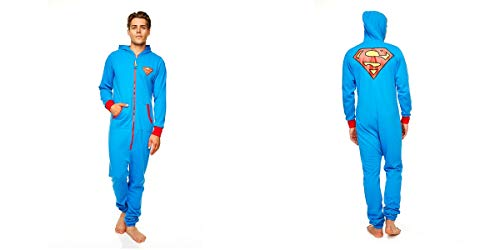 DC ComicsHerren Strampelanzug Blau Blau, - Superman Blue with red trim, L