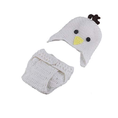 Aru Neugeborenes Baby Ostern Fotografie Requisiten Outfits Häkeln Hut kurzes Kostüm ()